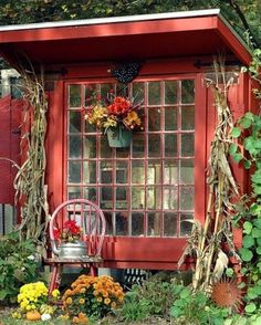 garden shed - #AnInfomatiqueFavorite I have that window, got it in a salvage yard