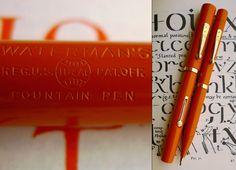 Waterman 55 Cardinal Red HR Pen & Pencil Set 1920s. 14C F/M Ultra Flex Nib. Rare #WATERMAN