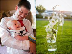 I love the flower in mason jar idea!
