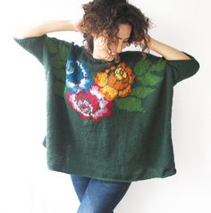 hand-knitted-sweater-with-roses-pattern