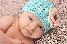 Crochet For Free: Shell stitch beanie (newborn to child)