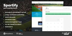 Download Sportify - Sport Booking Theme (Events) Nulled