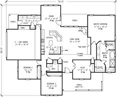 First Floor Plan of Country   Victorian   House Plan 95659