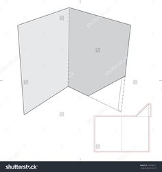 Folder With Die Cut Layout Stock Vector Illustration 193596011 : Shutterstock