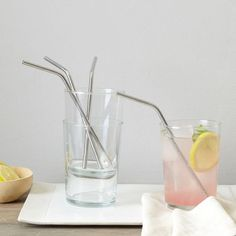 Perfect for iced tea, cocktails or smoothies, these stainless-steel Bendy Straws are better for the environment than traditional plastic straws and clean easily in the dishwasher.
