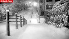 Resultado de imagen de gifs animados de paisajes de invierno