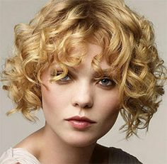 Short curly hair for around - chubby faces, short curly hairstyles for over 50.