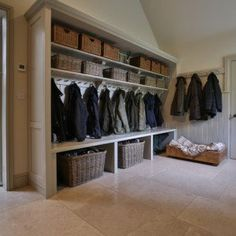 Cotswold Boot Room There every step of the way Daniel will manage your project from start to finish, with a meticulous eye for detail and an insistence for perfection. From your initial enquiry it can be as little as 5 weeks Cloakroom Storage, Hallway Storage, Kitchen Storage, Cloakroom Ideas, Room Ideas Bedroom, Boys Room Decor, Boys Hunting Room, Hunting Cabin, Boot Room Storage