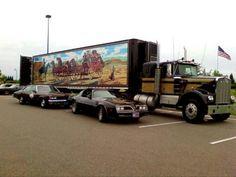 """18 Wheel Beauties: Truck Replica: Snowman& Rig from """"Smokey & The Bandit"""", Big Rig Trucks, Cool Trucks, Cool Cars, Semi Trucks, Kenworth Trucks, Peterbilt, Custom Trucks, Custom Cars, Pick Up"""