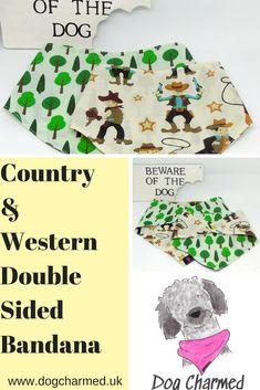Country and western style dog bandana
