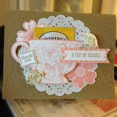 For a Tea-riffic friend! by spamstamper - Cards and Paper Crafts at Splitcoaststampers Tea Bag Favors, Tea Party Favors, Tea Party Invitations, Tea Party Decorations, Tea Party Birthday, Birthday Cards, Sta Rita, Tea Riffic, Tea Party Baby Shower
