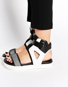 Image 1 of DKNY Active Beverly Scuba Mesh Sporty Flat Sandal