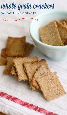 Absolutely delicious crunchy whole grain cracker recipe. A simpler, healthier version of wheat thins. #vegan