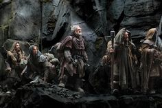 Thorin Oakenshield and Company climbing over the mountains...