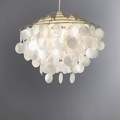 Shimmering light pendant perfect to add sophistication to any room with pearl effect circles for warm reflective lighting. Lamp Shades, Ceiling Lamp, Capiz, Lamp, Ceiling Lights, Light Shades, Hanging Lamp, Light Decorations, Dunelm