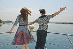 Boating in Carolina Herrera #sakscanada  http://www.the-a-list-blog.com/fashion/alyssa-campanella-torrance-coombs-saks-canada/