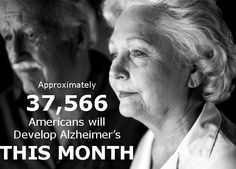 Approximately 37,566 Americans will develop #Alzheimer's this month. #USA