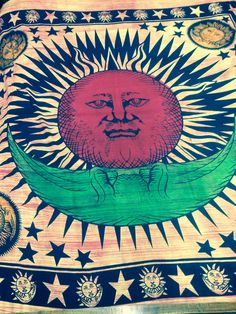 sun and moon tapestry by Fusionwestern on Etsy, £16.99