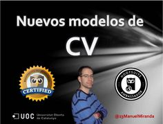 Presentación en PPT en #SlideShare de Nuevos modelos de #curriculum que deberías conocer por Manuel Miranda Jiménez @23ManuelMiranda  #CV #OrientacionLaboral