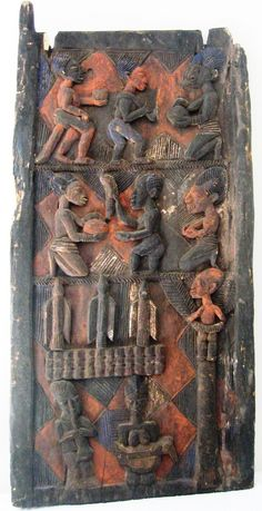Africa | Yoruba door.  These areoften made by well-known carvers for prestigious homes and palaces, usually have strong figurative carving in deep relief. | © zug55, via Flickr