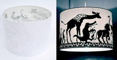 How to http://www.apartmenttherapy.com/the-making-of-a-silhouetted-lamp-shade-bloesem-kids-165735