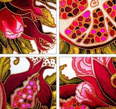 "Stained glass painting on glass. The lamp ""Gr … - Art of Epoxy Pomegranate Art, Turkish Pattern, Textile Pattern Design, Stained Glass Paint, Batik Art, Watercolor Fruit, Jewish Art, Mosaic Projects, Fruit Art"