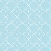 Moroccan Tile in Muted Morning Blues - lisakling - Spoonflower
