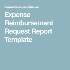Company Reimbursement Form