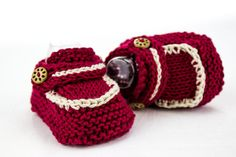 KNITTING PATTERN Easy Loafer Booties Quick Baby by heaventoseven
