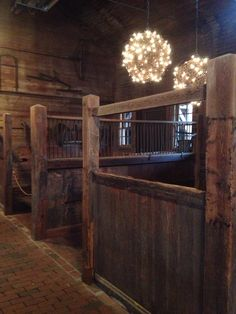 Biltmore Stables Purely Southern - Amazing rustic horse barn stalls-with a swing out door