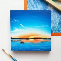 Small Canvas Paintings, Easy Canvas Art, Small Canvas Art, Cute Paintings, Mini Canvas Art, Original Paintings, Original Art, Hand Painting Art, Long Painting