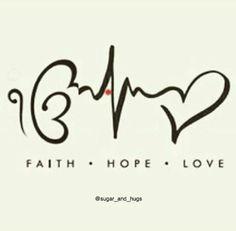 Resultado de imagen para faith hope love tattoo