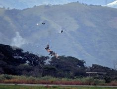 Pilots eject seconds before Fighter jet Crashes