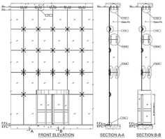 Curtain Wall Facade Detail Fin Spider Fittings For Fin Glass Curtain Wall . Curtain Wall Detail, Glass Curtain Wall, Curtain Hanging, Spider Glass, Glass Wall Systems, Metal Beam, Glass Building, Glass Structure, Construction Drawings