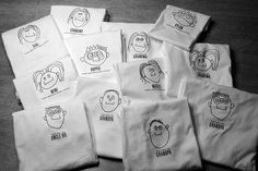 Get your kids to draw a picture of all the family, transfer it to a t shirt and hand them out as presents. so unique and personal.