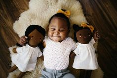 Lovely adoptive momma makes these adorable, squishy, diverse dolls while raising money for various children's programs. SO SWEET!