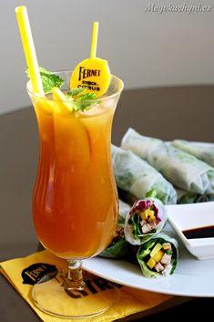 Poslední doušky léta s rýžovými závitky a Yellow mango drinkem - Meg v kuchyni