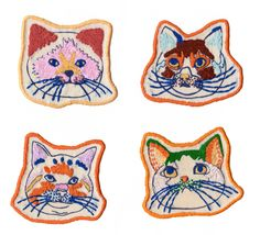 Cat Patches, 2014, Masae Wada available at Lik+Neon in London and I can take a personal order too. Please contact me via emails masaewada53[at]gmail.com