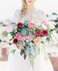 Romantic seaside bridal inspiration