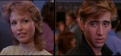 Valley Girl the looks they give each other make me melt everytime, that movie is so so classic, so timeless teenage love story. Nicolas Cage Valley Girl, 80s Movies, Movie Tv, Deborah Foreman, Friday Im In Love, Teenage Love, Style Matters, Valley Girls, Chick Flicks