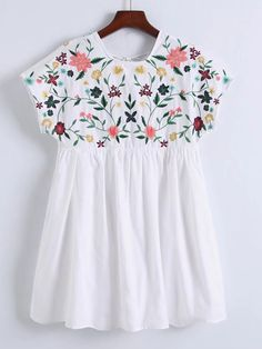 Shop Flower Embroidery Cap Sleeve Dress online. SheIn offers Flower Embroidery Cap Sleeve Dress & more to fit your fashionable needs.