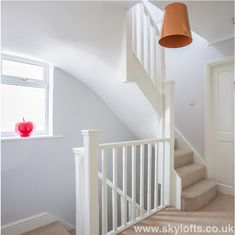 Railing New Landing for Loft Conversion Bedroom in West End Surrey Call us for a FREE Quotation Today 01252 500 872 Attic Loft, Loft Room, Bedroom Loft, Bedroom Decor, Loft Bathroom, Loft Conversion Plans, Loft Conversion Stairs, Loft Conversions, Attic Conversion Bedroom