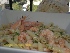 Cocina compartida: Macarrones con langostinos