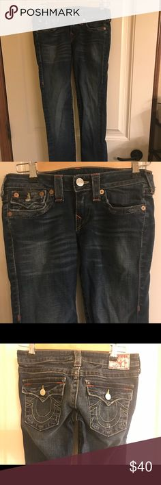 True Religion Size 27 Women's Skinny jeans   Excellent condition. Areas of factory wear. True Religion Jeans Skinny