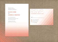 Ombre Dot - Modern wedding invitation featuring a sleek, ombre dot pattern - Design Fancy