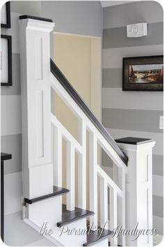 The Nitty Gritty – Staircase Details – – Home Renovation Basement Renovations, Home Renovation, Home Remodeling, Basement Ideas, Basement Stairs, Staircase Railings, Staircase Design, Banisters, Stairway Railing Ideas