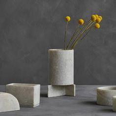 Cubism Vase Big - Set of 2 by 101 Copenhagen Cubist Art, Cubism, Industrial Style Furniture, Scandinavian Living, Hotel Suites, Reception Areas, Danish Design, Timeless Design, Copenhagen