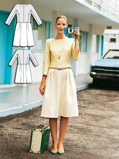 Mock Two-Piece Dress 05/2012 #132 http://www.burdastyle.com/pattern_store/patterns/mock-two-piece-dress-052012?utm_source=burdastyle.com&utm_medium=referral&utm_campaign=bs-tta-bl-160613-RetroChicCollection132