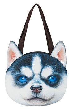 Huskies Dog Pattern Shoulder Bag - OASAP.com
