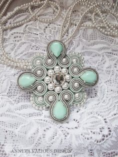 Soutache Bracelet, Soutache Pendant, Soutache Jewelry, Beaded Jewelry, Handmade Jewelry, Bead Embroidery Jewelry, Beaded Embroidery, Soutache Tutorial, Mixed Media Jewelry